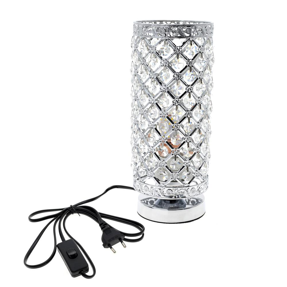 E27 LED high-grade decorative Crystal table lamp Bedroom Lampshade Decoration bedroom bedside table lampara de mesa