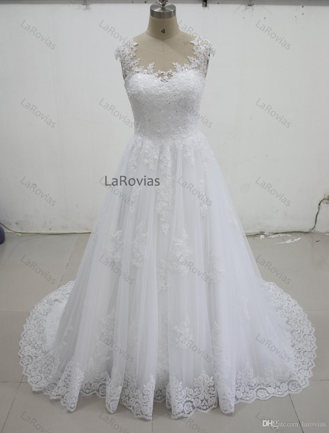 830eacf7b8d7 Cheap Casual Backless Lace Wedding Dresses Discount Garden Outdoor Wedding  Dress