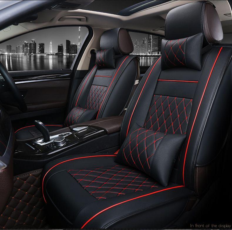 Custom Car Leather Seat Covers For Toyota RAV4 Prado Camry Yaris Mark X Passo Land Cruiser 80 Funda Asiento Auto Automotive Babies