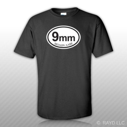 Molon Labe 9mm Ammo Can T-Shirt Tee Shirt Free Sticker Bullet 9 ... fba5236bf