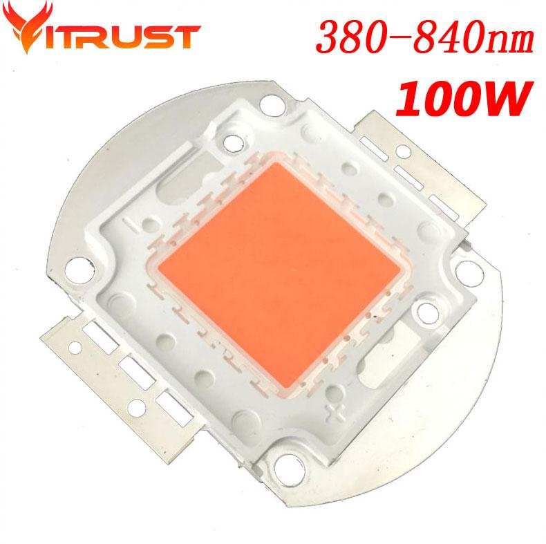 100w 380nm 850nm Led Lampe Horticole Chips Full Spectrum Horticole ...