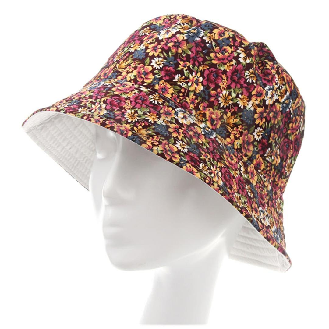 Women Men Bucket Hat Boonie Hat Hunting Fishing Outdoor Cap Floral Summer  Sun Hats Color Flat Bill Hats Beach Hat From Value111 c88808250df7