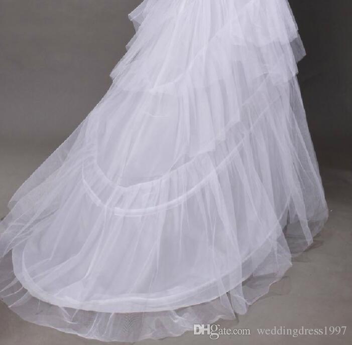 Hochzeitsfeier Petticoats weißen Boden Länge Hochzeitskleid Teile unter Kleid Brautbeleg Zubehör Hochzeit Veranstaltungen