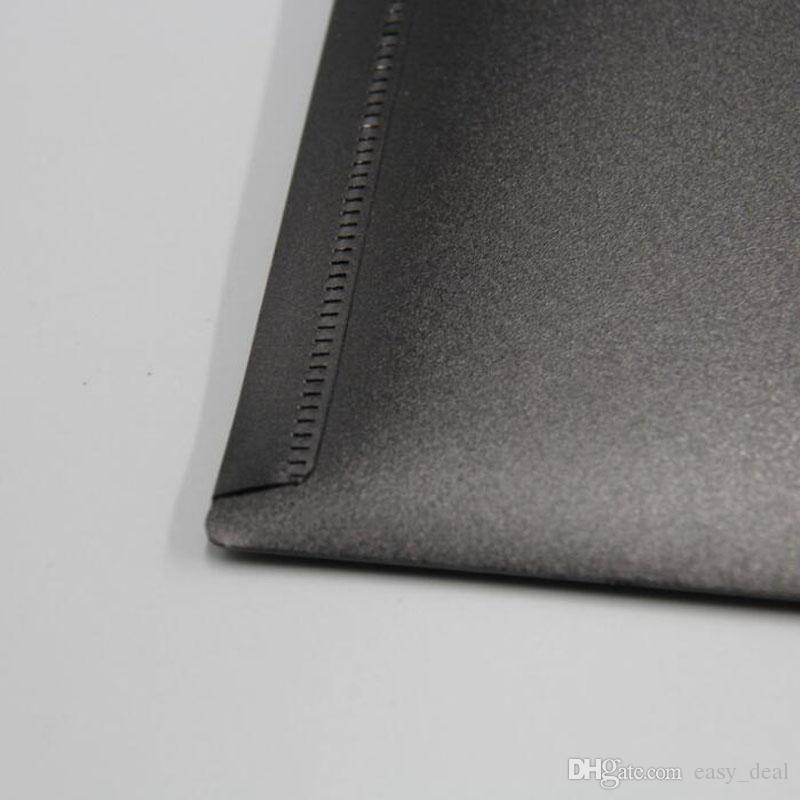 A4 A5 Tamanho Plástico Preto Branco Claro Documento Folder File Organizer Titular Saco De Papel com Fecho de Fivela ZA6336
