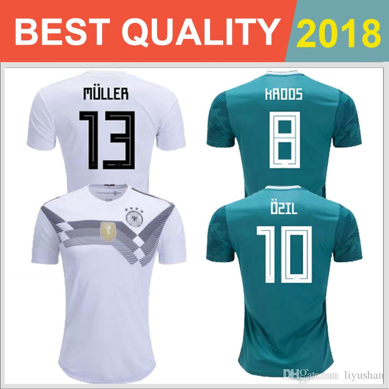 2019 2018 World Cup Germany Player Version Kroos Soccer Jerseys 18 19  Germany Fans Model DRAXLER OZIL REUS GOTZE Football Shirts Free Delivery  From ... d6a386b3f
