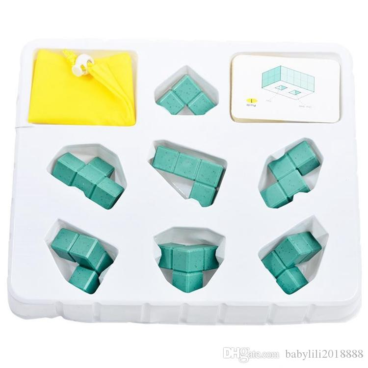 wholesales 3D building model building blocks toy children's exercise logic thinking puzzle children's parent game building block toys