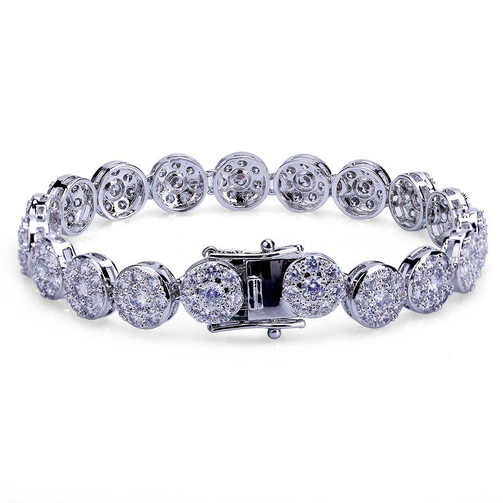 680b42e3f Hip Hop Bracelets Full Zircon Cuban Miami Chain Bracelet Jewelry ...