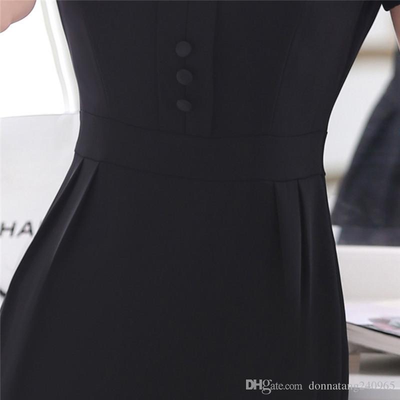 Лето Dress Женщины 2018 Повседневная Тонкий Офис Bodycon Dress Элегантные Вечерние Платья Женский Большой Размер Формальные Работы Dress