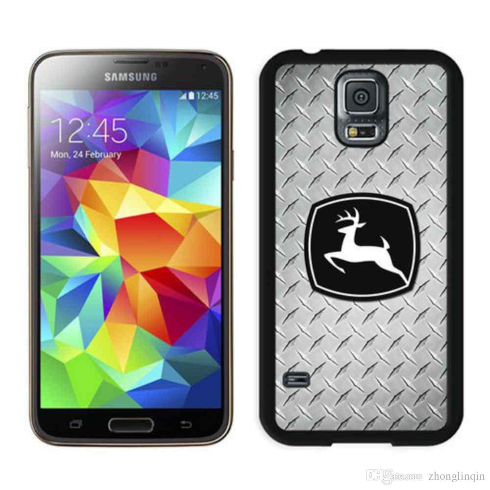 top fashion 9404c e06f1 John Deere Black IPhone case For 5 6 6plus 7 7plus Samsung S6 S6e S7