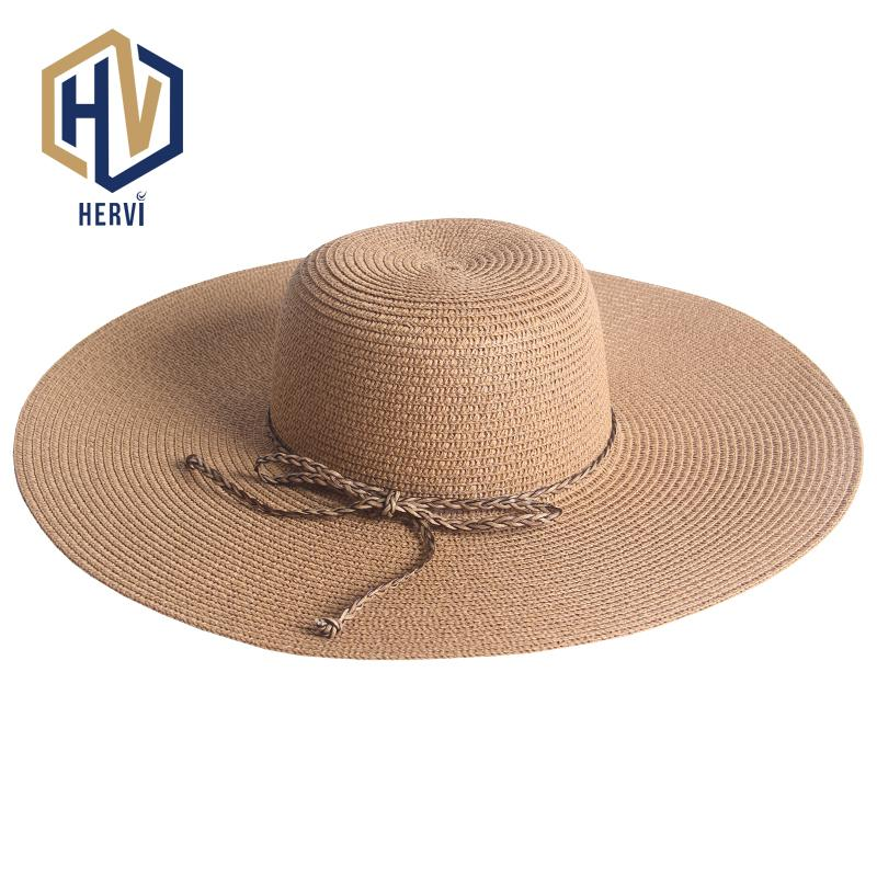 c8d28947ba6b2 Top Brand Wholesale Big Wide Brim Floppy Summer Hat Women UV Protect Travel  Sun Shade Cap Female Beach Straw Hats NS46 A Easter Hats Fur Hats From ...