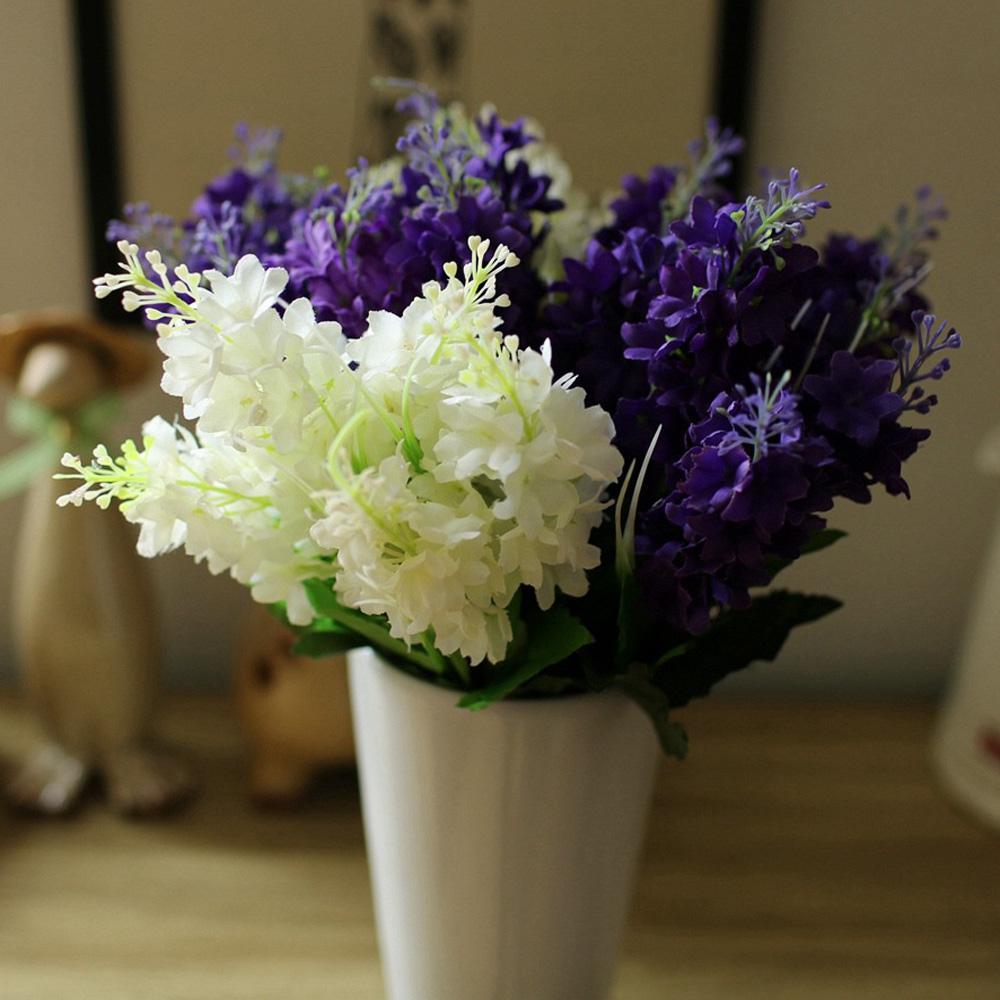 2018 Plastic 5 Heads Hyacinth Plant Silk Flower Wedding Flower ...