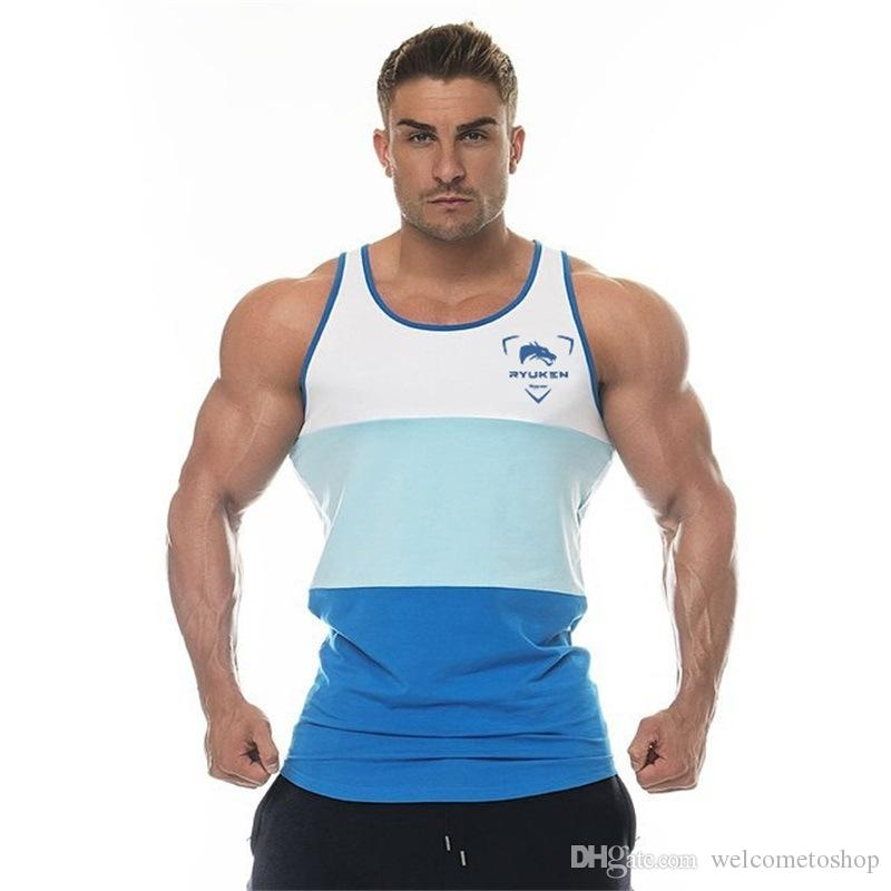 eaa22d47ffccd 2019 Mens Slim Beauty Fitness Tank Tops For Male Summer Casual Bodybuilding  Jogger Muscle Gym Sleeveless Shirts Vests From Topfashion88
