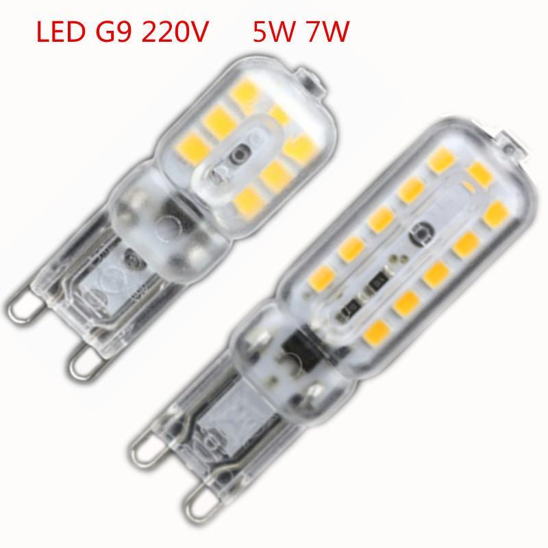 20x New Mini Led G9 5w 7w 220v G9 Lamp Led Bulb Smd 2835 Light ...