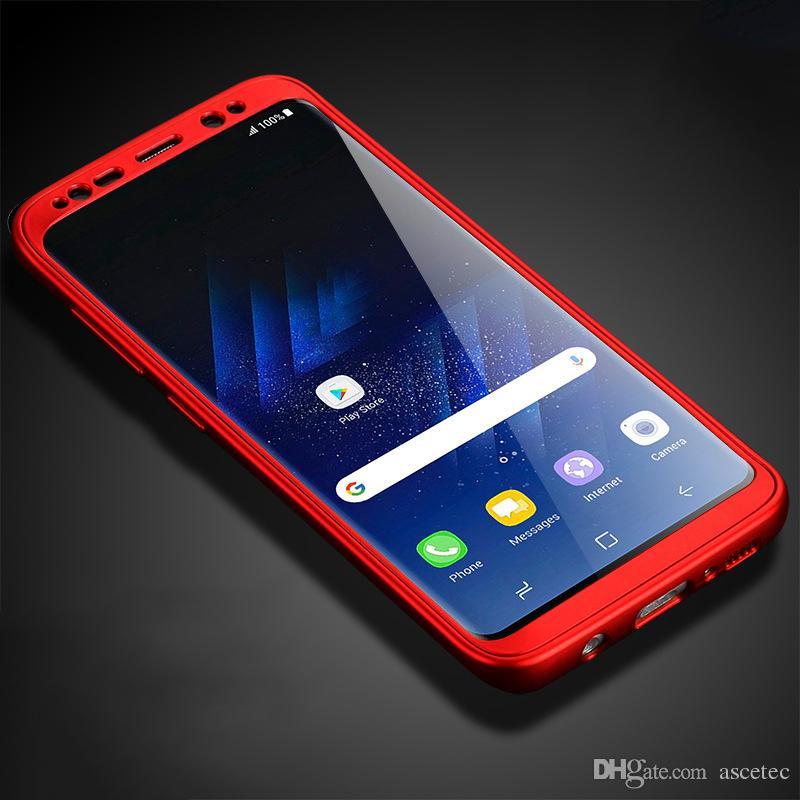 962e549e17c Fundas De Celular Para El IPhone XS XR MAX X 8 7 Samsung Note 9 8 360  Grados Funda De Cristal Templado Híbrido Completo + Cubierta De Acrílico  Rígido Para ...