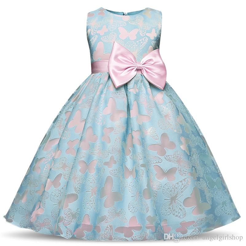 845ae86b68ece 2018 vintage Baby flower Girl Dress Baptism Dresses for Girls 1st year  birthday party wedding Christening baby infant clothing bebes