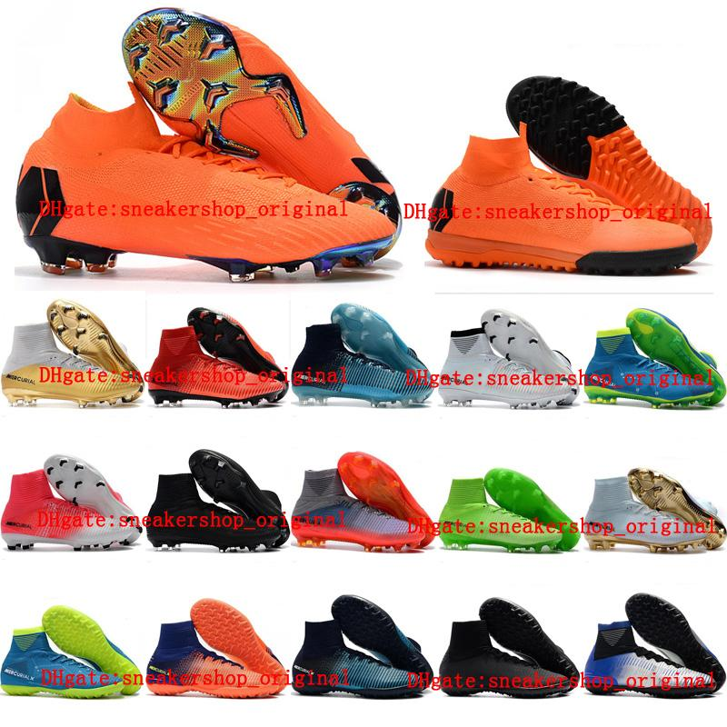 53f904c2 2018 soccer shoes Mercurial Superfly VI 360 Elite FG kids soccer cleats  indoor boys youth cr7 Crampons de football boots Neymar mens boots