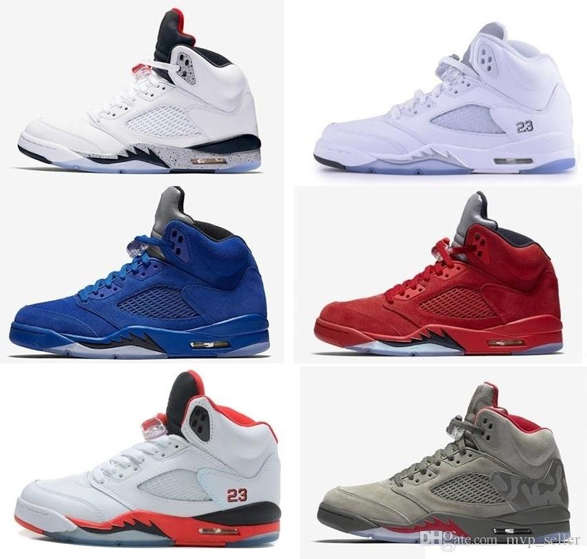 purchase online New cheap 5s 5 Olympic OG metallic Gold Tongue women basketball shoes Black Metallic red blue Suede Fire Red sports sneakers buy cheap Cheapest l5cGnhEf