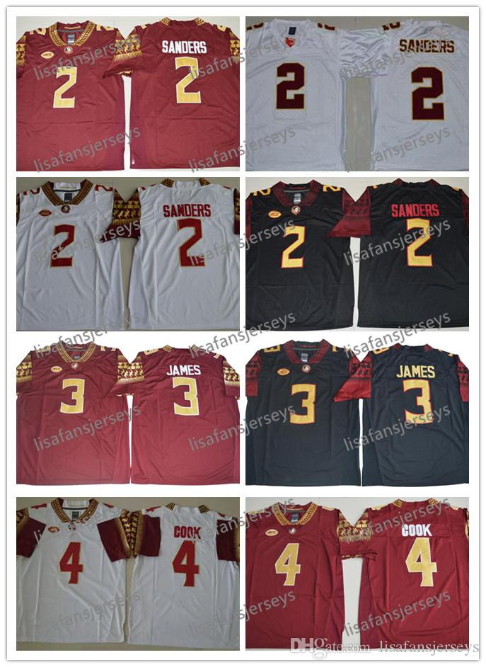 f19b1ae9f NCAA Mens Florida State Seminoles 2 Deion Sanders 3 James 4 Dalvin Cook ACC  FSU College Football Jerseys University Embroidery Jersey NCAA Mens Florida  ...