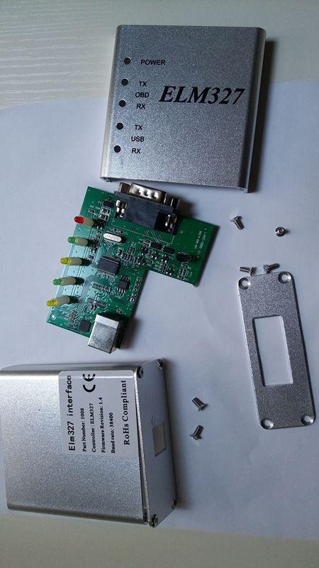 ELM327 USB Aluminum Metal 25K80 PIC18F25K80 CP2102 Chip OBD2 ELM327 USB CAN-BUS Scanner OBD2 Code V1.4 Best Qualtiy