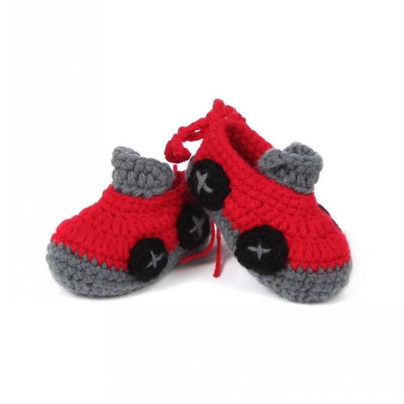 Fashion Hot Sale Car Design Crib Crochet Casual Baby Shoes First Walkers Handmade Knit Sock Infant Shoes Free DHL D352S