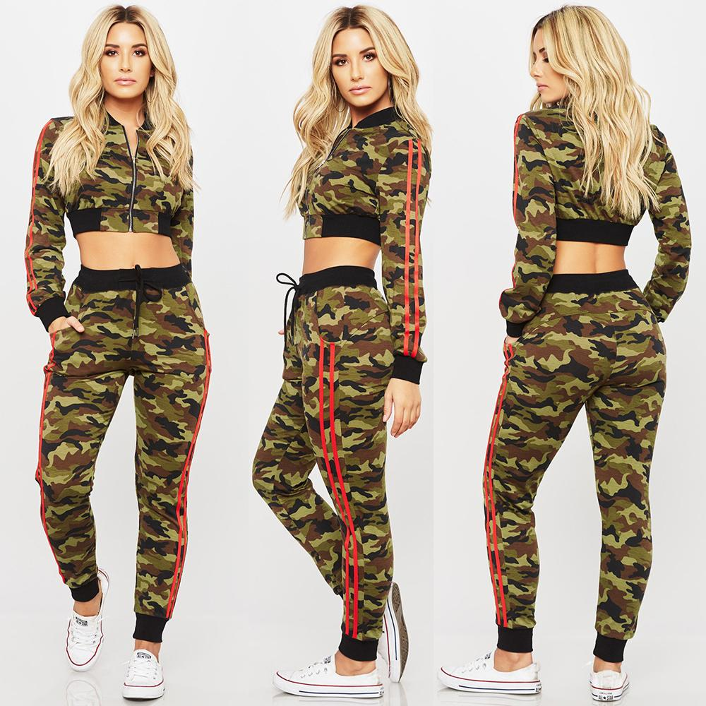 5209fe1886ac Boys Sportswear Kids Army Print Pullover Jogging Jogger Two Piece Tracksuit  Set