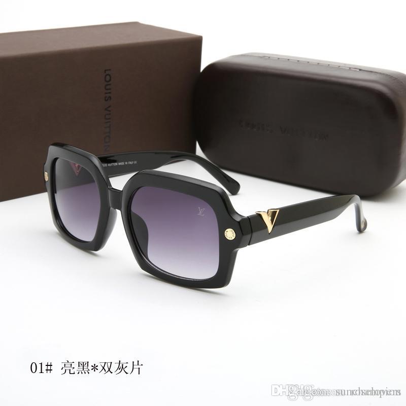 725463d2a2 Luxury Brand Sunglasses Click Newest Brand Designer Metal Square Sun ...