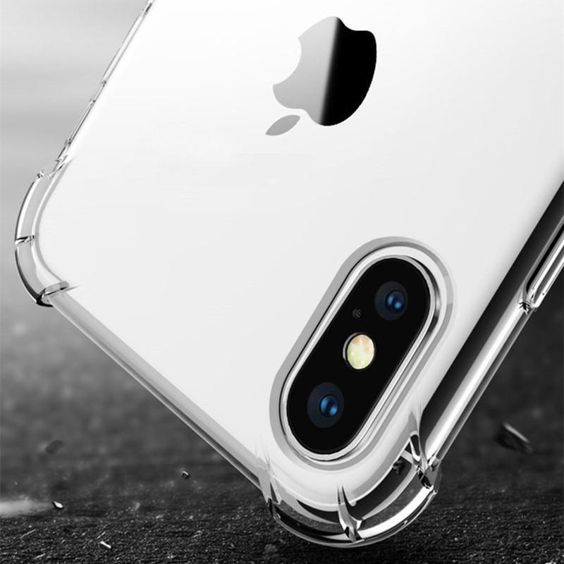 Para Iphone XR XS MAX 8 X 7 6 6S Samsung S9 S8 Plus Nota 9 8 Cubierta Soft Air Cushion TPU Acrílico para Iphone8