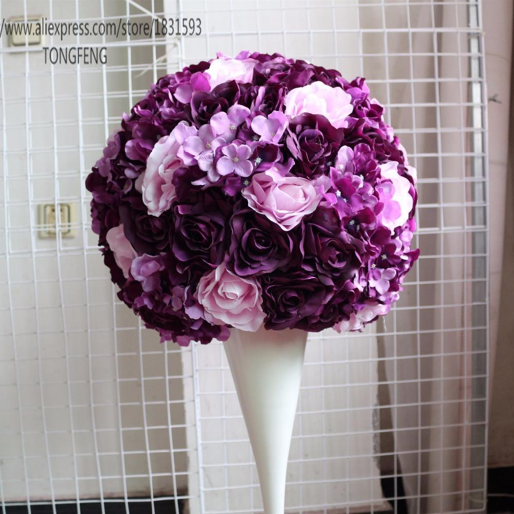 Grosshandel Kunstliche Seidenblumen Ball Dekoration Blumen Kugeln Fur