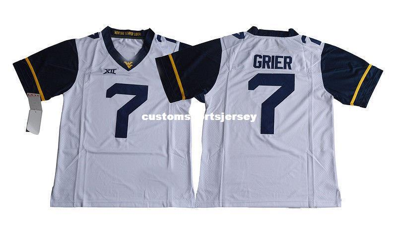 huge selection of 3e298 2ad32 Cheap custom Will Grier Jersey #7 West Virginia Mountaineers Football  Jersey White Stitched Customize any number name MEN WOMEN YOUTH XS-5XL