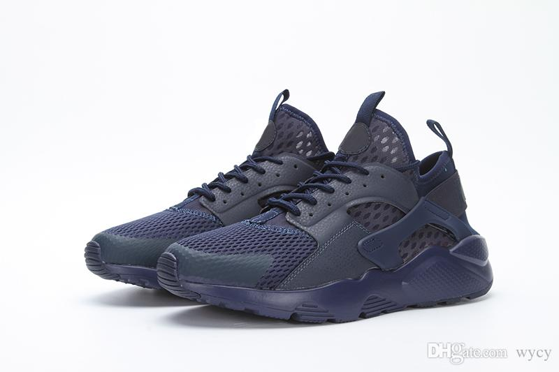 Newest 2017 air Huarache 4 IV casual Shoes For Men Women, Black White High Quality Sneakers Triple Huaraches Jogging Sports Shoes Eur 36-45
