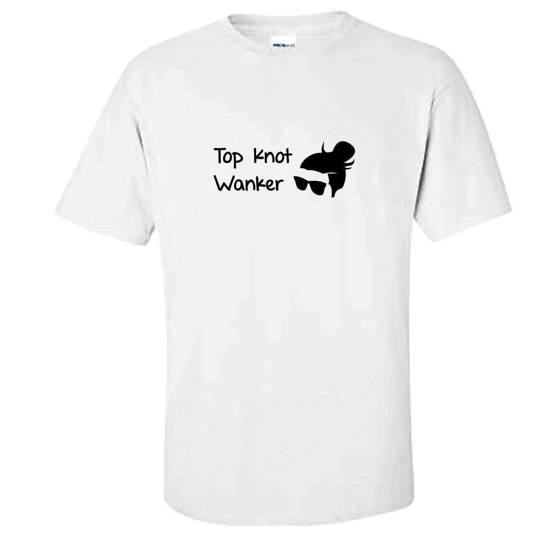 23d0a8c512 Mens Top Knot T Shirt Man Bun Long Hair Funny Rude Joke Tshirt Gift Mens T  Shirt Summer O Neck 100% Cotton Men Short Sleeve Tee Shirts With Design  Unique T ...