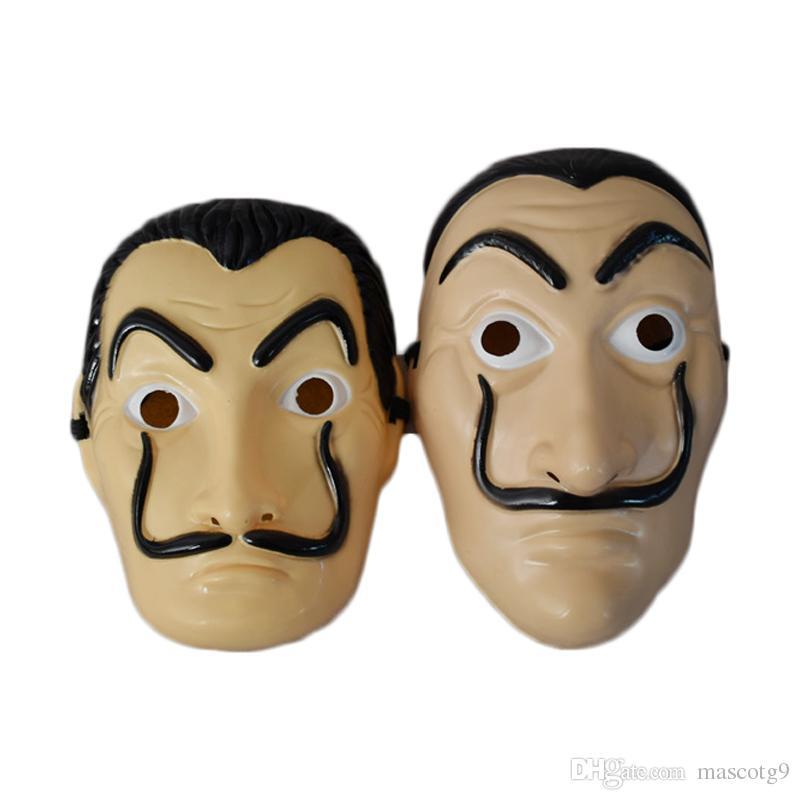 Mascara Dali Hot La Casa De Papel Face Mask Salvador Dali Cosplay Plastic Movie Pvc Party Mask