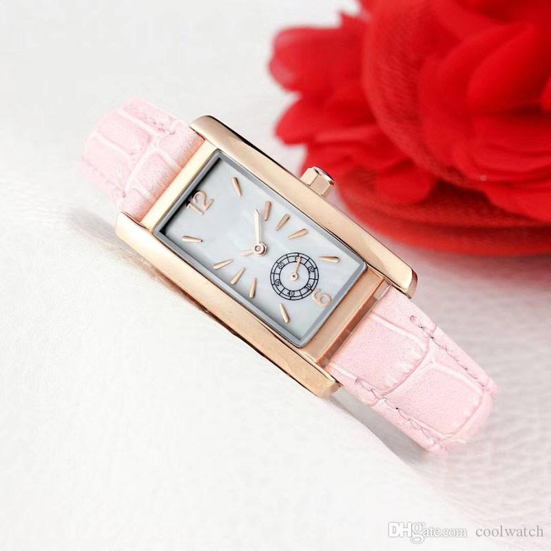 ebbd263a9b4 Waterproof Womens Luxury Watches Top Brand Rectangle Dial Fashion Female  Quartz Watch Leather Strap Ladies Girl Wristwatch Relogio Feminino First  Wrist ...