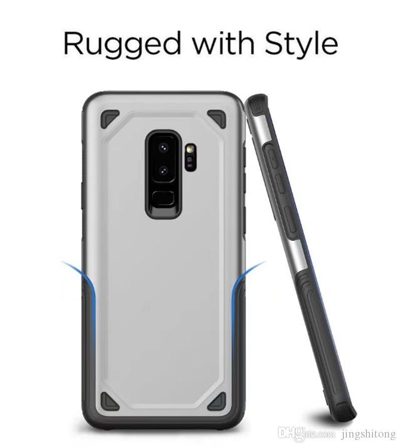 Boîtier antichoc pour Samsung Galaxy S9 Plus Coque Ultra Slim Anti-Goutte Armure Hybride TPU + Dur Pour Galaxy S9 Couverture Arrière