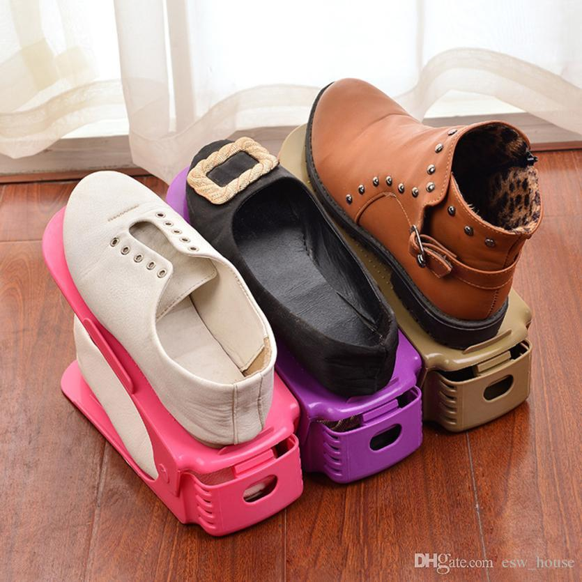 New Home Use Shoe Racks Modern Double Cleaning Storage Shoes Rack Living Room Convenient Shoeboxes Shoes Organizer Stand Shelf