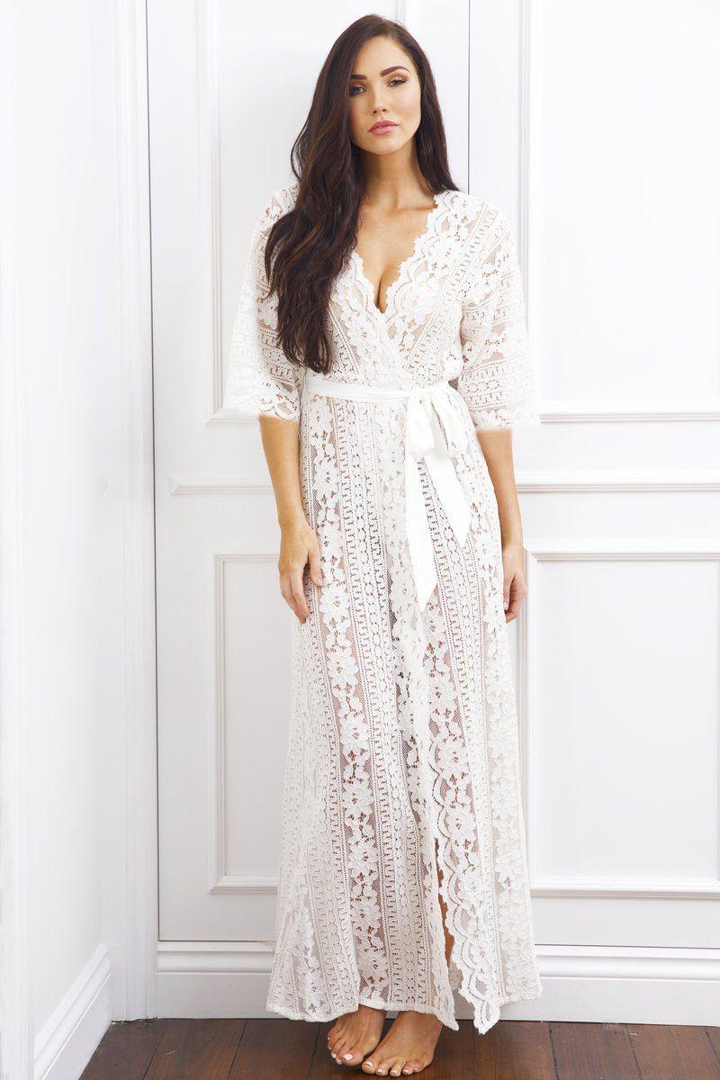 Womens Plus Size White Beach Dress