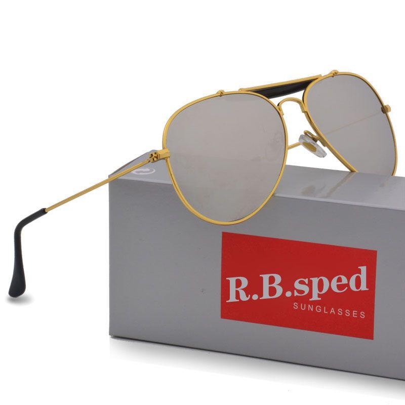 ba1fa03ee2 Compre Marca Piloto Gafas De Sol Para Hombres Y Mujeres Gafas De Sol De  Conducción Masculina Recubrimiento Reflectante Uv400 Gafas Gafas De Sol Con  Caja Y ...
