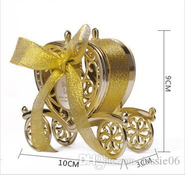 Vintage Carriage Candy Box With Bow Sweets Favor Boxes Birthday Party Wedding Decoration Anniversary Baby Shower Candy Gift Wrap