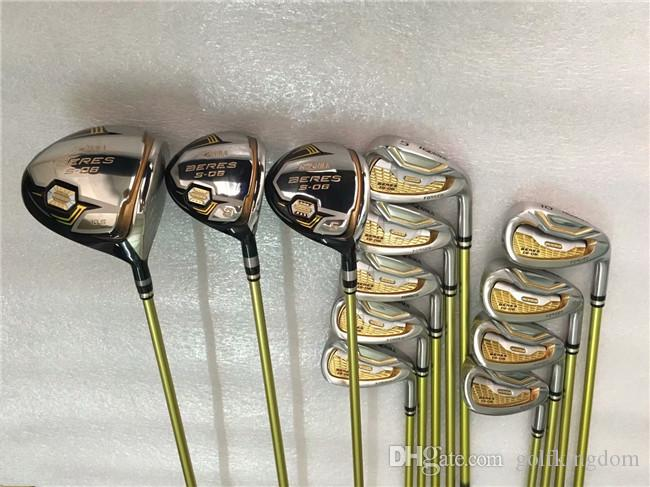 13PCS 3 Star Honma S-06 Full Set Honma Beres S-06 Golf Clubs Driver + Fairway Woods + Irons + Putter Graphite Shaft With Head Cover