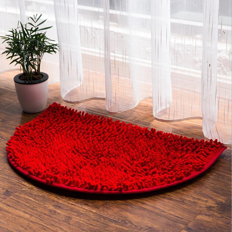 Grosshandel Halbe Runde Badezimmer Teppich Multi Farben Mikrofaser