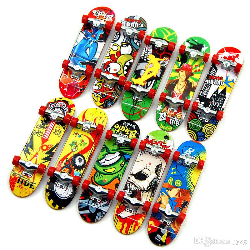 Print professional Alloy Stand FingerBoard Skateboard Mini Finger boards Skate truck Finger Skateboard for Kid Toy Children Gift