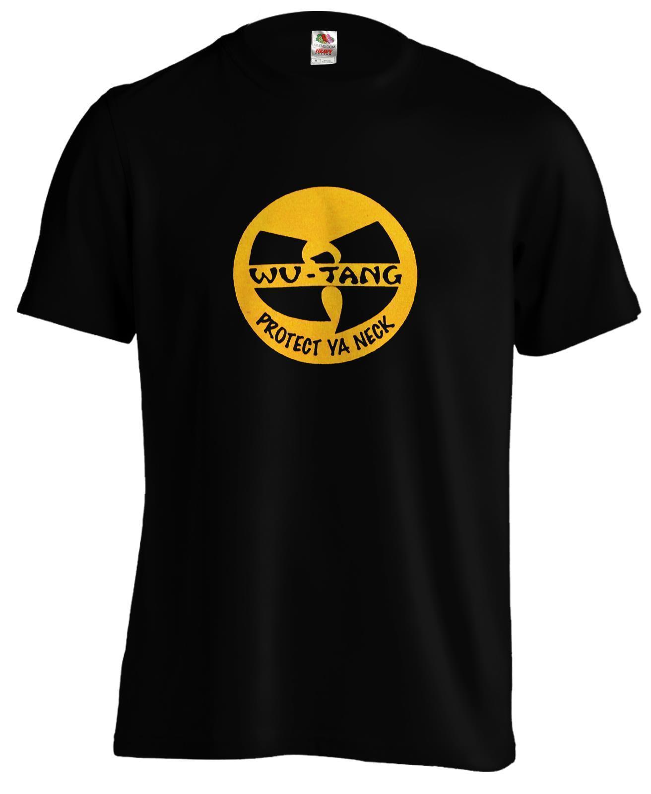 6ffdf563 Wu Tang Clan Emblem Protect Ya Neck RZA GZA Rap Hip Hop Urban T ...