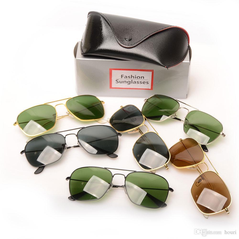 2018 New Brand Designer Fashion Men Women Sunglasses UV Protection Sport Vintage Sun glasses Retro Eyewear With box mans Sunglasse