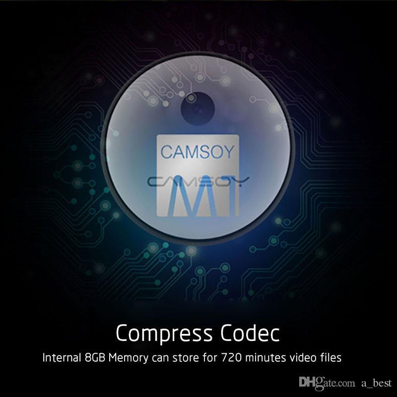Câmera Camsoy M1 Full HD 1080 P Bebê Monitor de Segurança Em Casa Mini Câmera 8 GB com Sensor de Movimento Action Camcorder