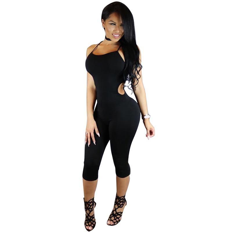 5eda09c17d9 Wholesale- 2016 New Fashion Rompers Womens Black Spaghetti Strap ...