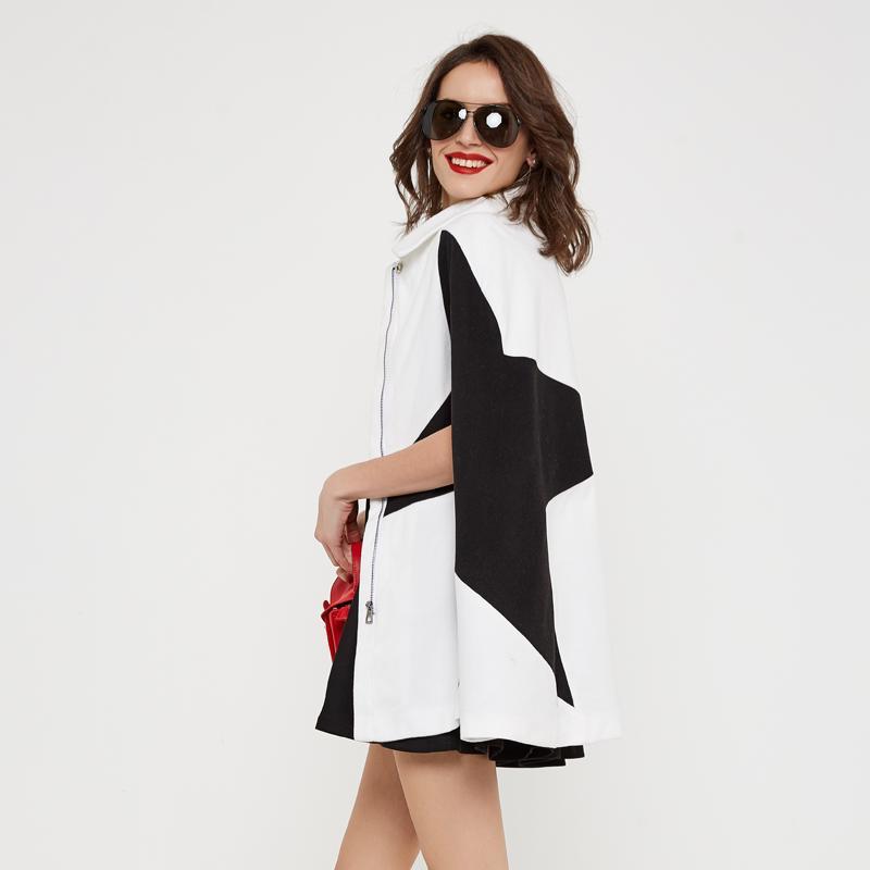 HEE BÜYÜK Manteau Femme Pelerin Ceket Kış Yarasa Kollu Pelerin Ceket Abrigos Mujer Sonbahar Kadın Turn-down Yaka Trençkotlar WWN1187