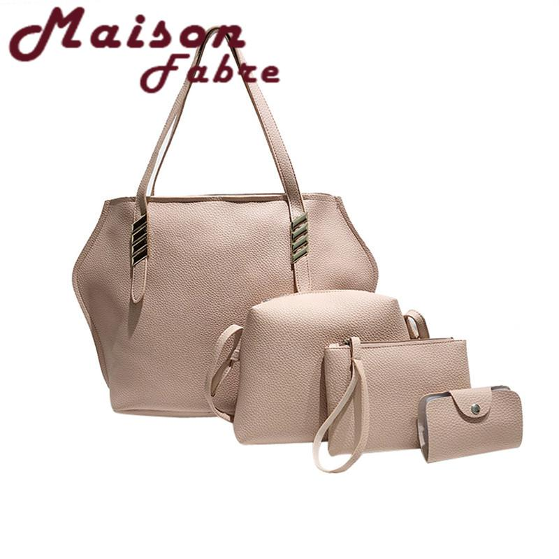 0fa1a821ee7b Women Multifunction Pattern Leather Litchi Skin Texture Handbag+ ...