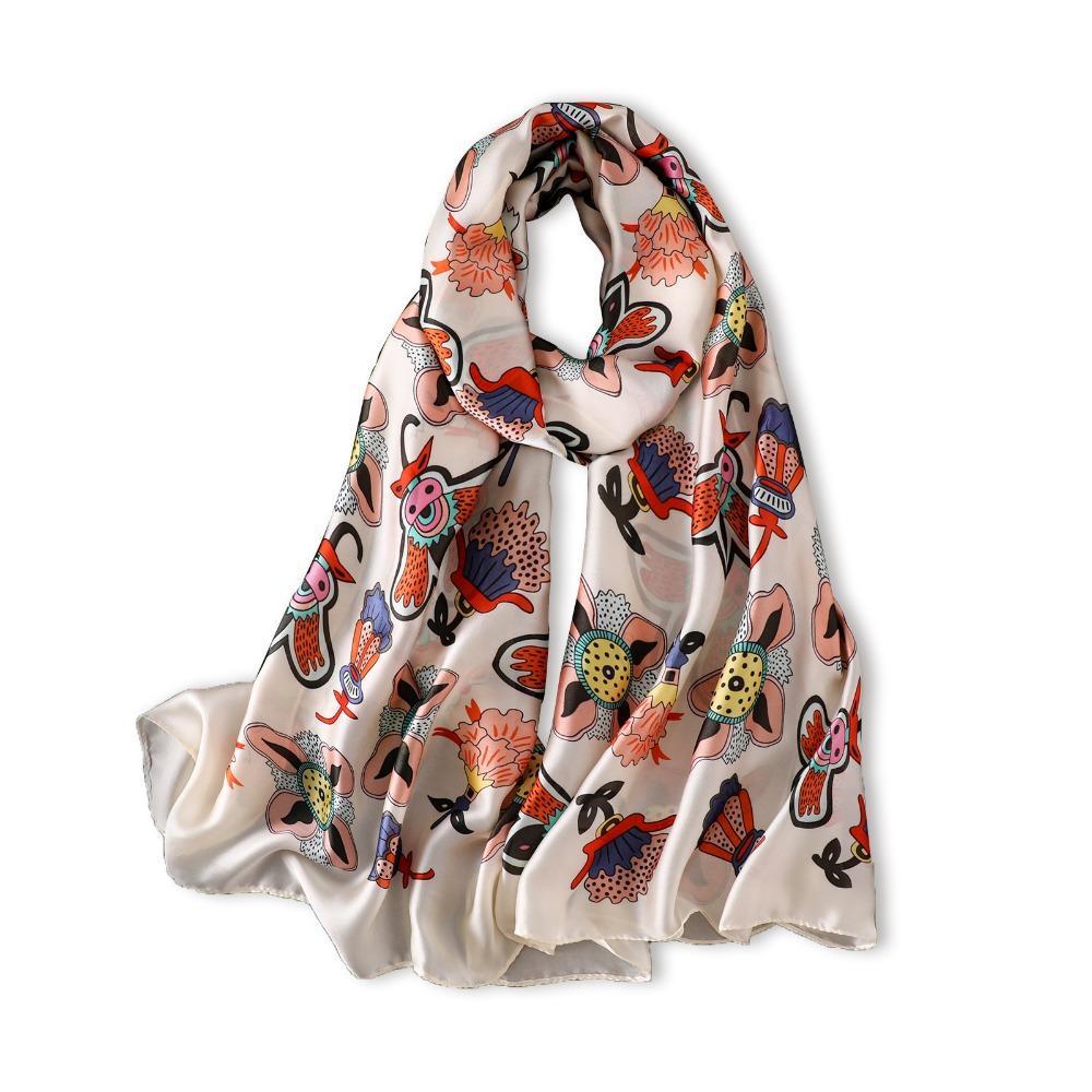 Acheter 2018 Marque De Luxe Femmes Foulard Designer Foulards En Soie Haute  Qualité Été Bech Étoles Hijab Châles Pour Dames Envelopper Foulard De   36.17 Du ... 749c2acc58d