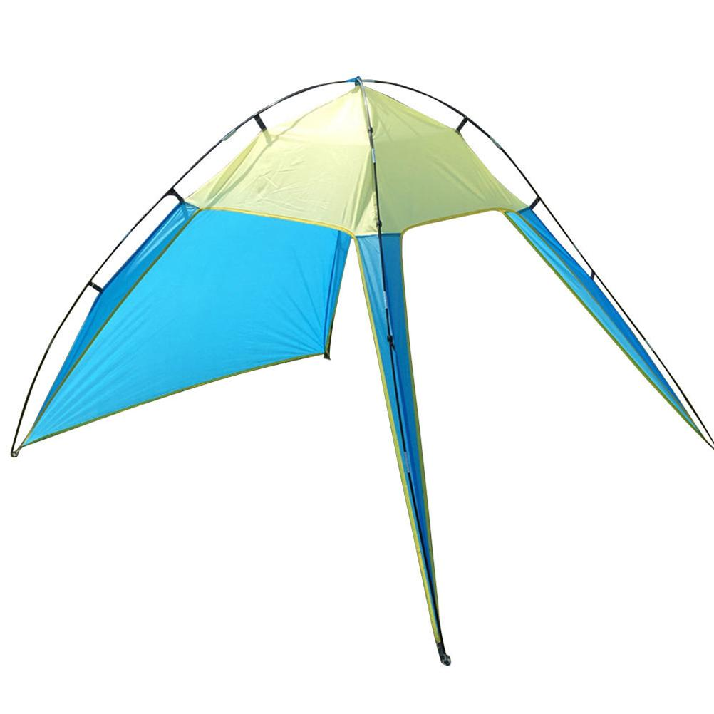 Portable Outdoor Beach Canopy Sun Shade Triangle Tent Shelter For Camping  Fishing Sky Blue Yellow Sun Shelter Cheap Sun Shelter Portable Outdoor  Beach ...