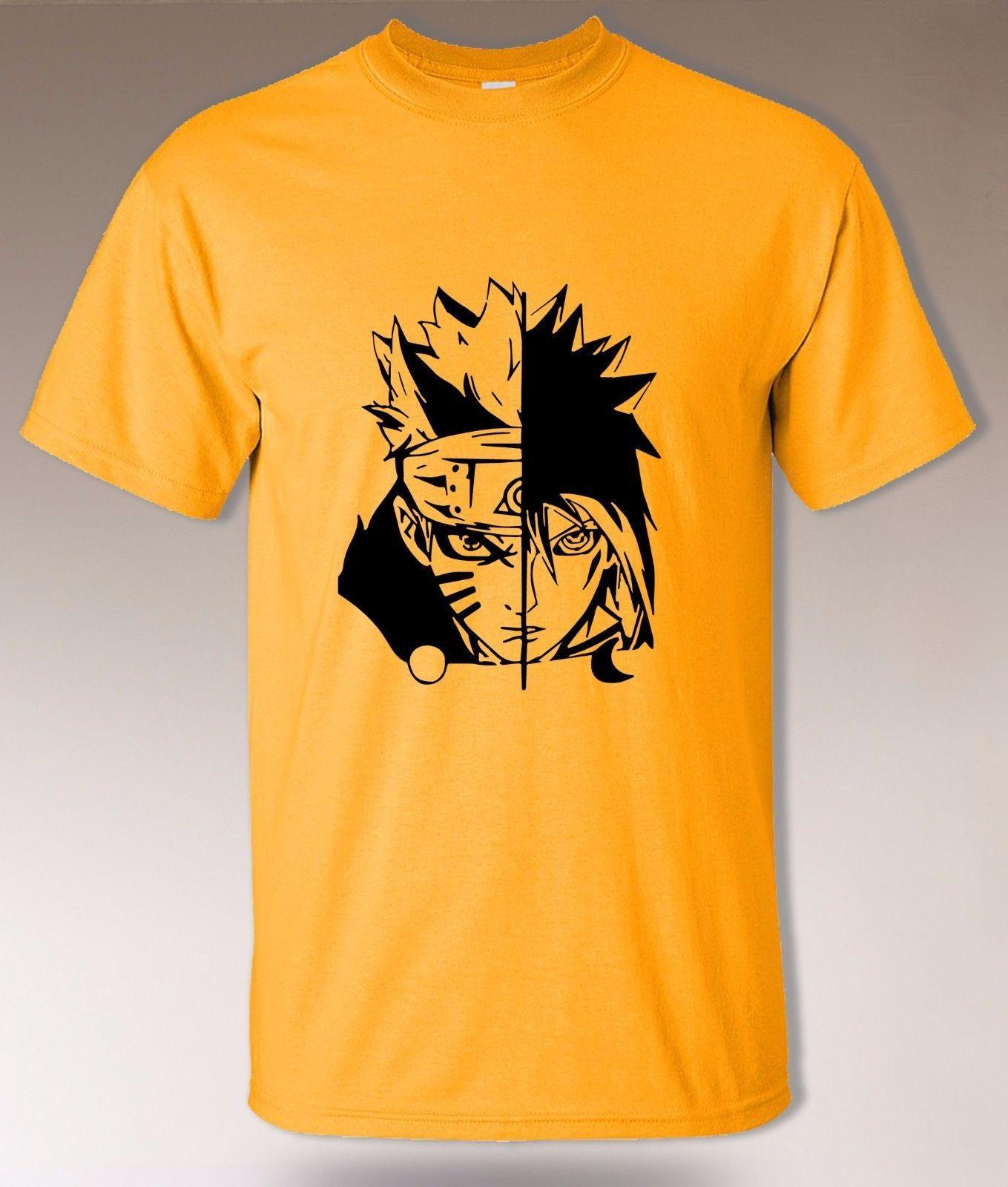 cf3e7e324 Naruto And Sasuke T Shirt, Uchiha Vs Uzumaki Clan, Hidden Leaf Konoha  Shinobi Funny Unisex Casual Tee Gift Buy Funky T Shirts Online Ot Shirts  From ...